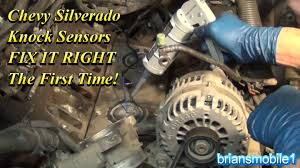 Chevy Silverado Knock Sensors FIX IT RIGHT The First Time - YouTube