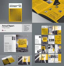 40 Annual Report Templates With Awesome InDesign Layouts Inspiration Annual Report Template Design