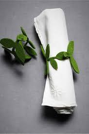 d i y: felted foliage napkin rings