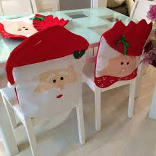 chair covers for home. Christmas Chair Covers Santa Claus Decoration Cover Home Party Decor For