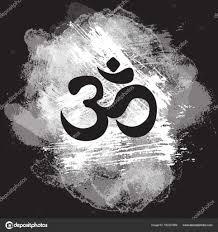 символ черной ом на фоне гранж рисованной индийский дивали духовной