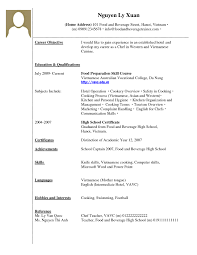 Basic Resume Template No Work Experience Linkvnet