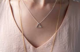 small sterling silver triangle necklace