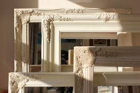 shabby chic mirror frame white distressed shabby chic mirror home living ideas backtobasicliving com