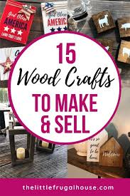 15 easy wood crafts to make and sell