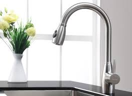 Interior Fantastic Kitchen Faucet With Spray Button For Modern - Kitchen faucet ideas