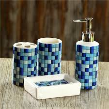 blue glass bathroom accessories. Blue Glass Mosaic Bath Accessories/Sets Bathroom Accessories S