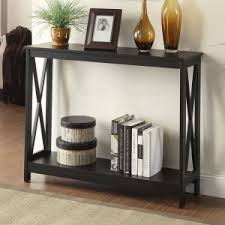 Black console table Simple Convenience Concepts Oxford Rectangle Console Table Hayneedle Black Console Tables Hayneedle