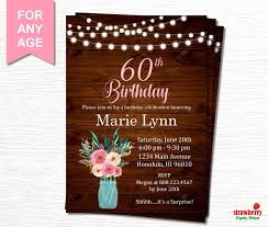 60th Birthday Invitations For Her Best Of Free Download 51