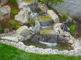 koi pond waterfall design small backyard ponds and waterfalls amys office fish pond