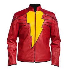 shazam leather jacket shazam outfit shazam captain marvel costume