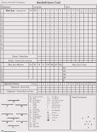 Baseball Charts Printable Printable Baseball Scorecards Scoresheets Pdf