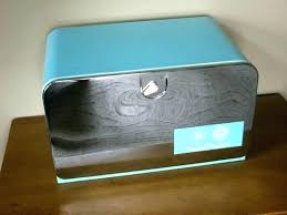 Turquoise Bread Box New Retro Bread Box Ebay Vintage Tin Bread Box Thecreekatbukitco