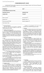 Apartment Lease Agreement Ny Pdf Simple Free New York Condominium ...