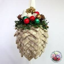 Quilted Christmas Ornament Pattern PDF by ChristmasOrnament, $4.95 ... & Neutral Pine Cone Quilted Christmas Ornament handmade by Renee: Quilted  Keepsake Ornaments, SOLD, Adamdwight.com