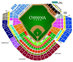 Detroit Tigers Seating Chart Comerica Park Seating Chart Detroit Tigers In Play Magazine