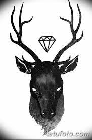 эскиз тату олень 23022019 087 Sketch Tattoo Deer Tatufotocom