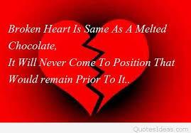 broken sad heart message with heart wallpaper