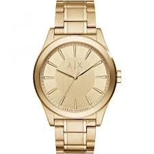 armani exchange men s gold tone watch ax2321 watches from armani exchange men 039 s gold tone watch