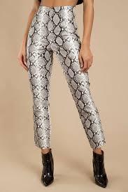 halen white multi high waisted pants