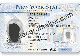 York Fake Virtual New - Maker Id Drivers License Card