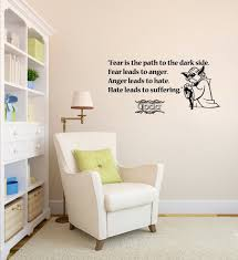 >wall decals quote fear path dark side star wars vinyl sticker  wall decals quote fear path dark side star wars vinyl sticker nursery decor