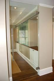 interior glass doors clear swing door commercial metal