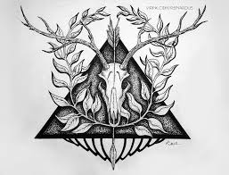 череп оленя рисунок