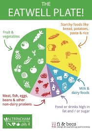 Healthy Living Chart Eatwell Eat Well Plate Poster Healthy Eating Chart For Kids