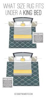 What Size Rug Fits Under A King Bed Design By Numbers - Bedroom rug placement