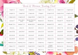 Book Reading Chart Free Book Of Mormon 12 Weeks Reading Chart Heartfelt Creative