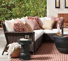torrey patio all weather wicker outdoor sectional set espresso pottery barn