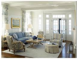 Sidelights Living Room French Doors Boxed Beams Blue Couch Ottoman ...