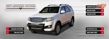 bullet proof toyota fortuner is