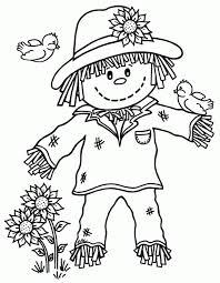 Small Picture Scarecrow Pictures To Print Fall Kids Coloring Pages Coloring