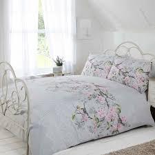 eloise fl duvet cover sets pink grey duck