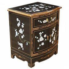 lacquered furniture. Black Lacquered Plum Blossom Design Side Cabinet Oriental Furniture Chinese Art A