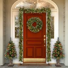 Collection office christmas decorations pictures patiofurn home Contest Spruce Prelit Wreath With Clear Lights Detectview Outdoor Christmas Decorations Youll Love Wayfair