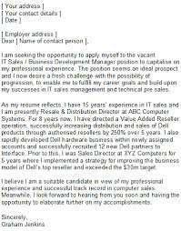 Business Development Cover Letters It Sales Covering Letter Sample