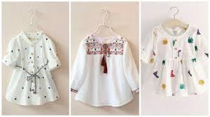 Baby Kurti Design 2019 Baby Girls Comfortable Frocks Designs For Summer Beautiful