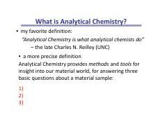 Chm317_s17_l1_notes Pdf What Is Analytical Chemistry My Favorite