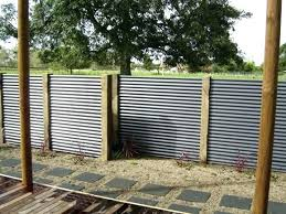 corrugated metal fence. Exellent Fence Corrugated Metal Fence Cost Club Regarding Designs 8 Privacy    For Corrugated Metal Fence L
