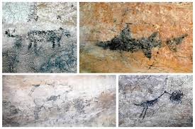 many of the paintings found in the caves of this natural reserve depict animals found on the surroundings most of this animals interact with each other