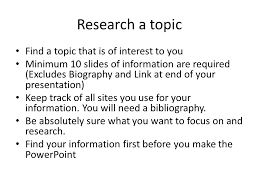powerpoint biography inf1070 powerpoint presentation research a topic find a topic