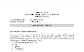 Soal uts/pts kelas 2 semester 1. Download Soal Pat Bahasa Sunda Kelas 7 Kurikulum 2013 Plus Kunci Jawaban