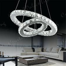 led ring chandelier 2 ring led modern crystal chandelier ceiling pendant lighting large ring led chandelier