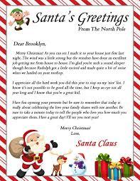 Santa Christmas Morning Letter Printable Pdf Digital Printout Santa Letter