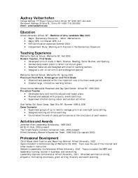 Teaching Resume Template Job Winning Preschool Teacher Resume Template Example Featuring 44