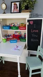 repurposed furniture for kids. kids art desk repurposed armoire furniture for