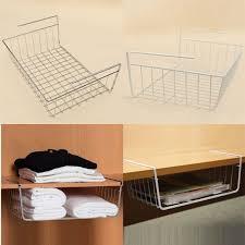 multipurpose iron hanging basket rack storage holder for wardrobe desk bathroom kitchen refriger office supplies high quality rack materia china holder lamp